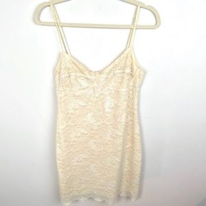 Aritzia Wilfred Lace BodyCon Dress Ivory Large Bra